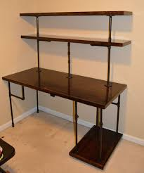 office desk with shelf. chrisu0027 industrial computer desk shelves by rallisonwoodworks more office with shelf