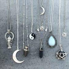 lot vintage yin yang sun and moon necklace pendant cabochon long