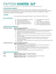 Speech Language Pathology Resume - http://topresume.info/speech-language