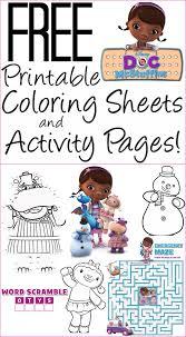 activity pages to print.  Print Doc McStuffins Coloring Pages Intended Activity Pages To Print N