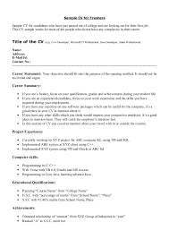 How Write Cv For Fresher Sample Cv Freshers Candidates Who Have Just ...