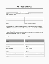Vehicle Bill Of Sell Auto Bill Of Sale Template Vehicle Tennessee Massachusetts Free Word