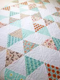 twin size quilt, triangle quilt, modern quilt, quilted bedding ... & twin size quilt, triangle quilt, modern quilt, quilted bedding, girl quilt, Adamdwight.com