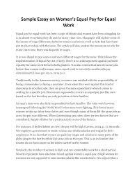 sample essay on women