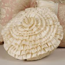 Round Decorative Pillows Chantilly Rose Decorative Pillows