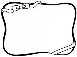 リボンの白黒フレーム飾り枠イラスト 無料イラスト かわいいフリー素材