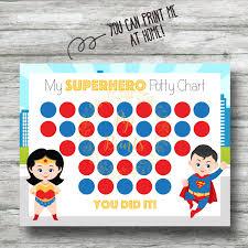 superhero potty printable superheo potty training chart instant wonder w and superman pdf