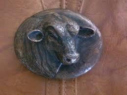 TEXAS SANTA GERTRUDIS BULL ultra rare! JAMES AVERY bronze belt buckle KING  RANCH   Belt buckles, King ranch, Bull