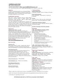Resume Objective For Graphic Designer Resume Format Doc For Graphic Designer Therpgmovie 80