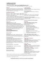 Resume Objective For Graphic Designer Resume Format Doc For Graphic Designer Therpgmovie 80