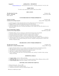Resume For A Server Job Customer Service Server Resume Samples