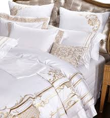 100 egypt cotton white embroidery palace royal luxury bedding sets king queen size hotel bed duvet cover bed sheet set