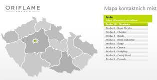 Mapa Kontaktních Míst Oriflame Cosmetics
