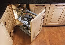 Design a Corner Kitchen Cabinet. Blind Corner Pull Out Shelves Design