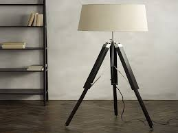 wooden tripod floor lamp with grey shade luxury modern floor lamp living room marvelous red feature