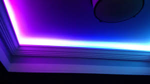 Led Tray Lights Led Crazy Lights In A Tray Ceiling Youtube