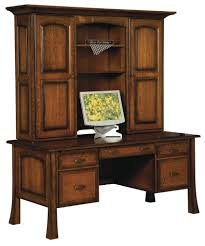 amish traditional writing computer desk hutch solid wood office