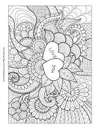 Valentines Day Coloring Pages Ebook Love You Zentangle
