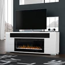 76 dimplex haley media console electric fireplace in rift grey or white