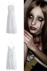 zombie bride with a blood tear and cut throat simple but does the job
