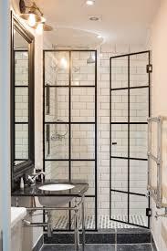 bathroom shower door window half doors double front stock photo ...