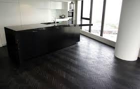 black parquet floor