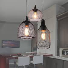 unitary brand antique black metal nets shade multi pendant lighting with 3 lights painted finish multi pendant chandelier n23