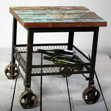 metal industrial furniture. Industrial Furniture Wheels. Furniture, Vintage And Minimalist Table Design With Metal Leg