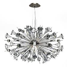 worldwide lighting starburst 24 light polished chrome crystal sputnik chandelier