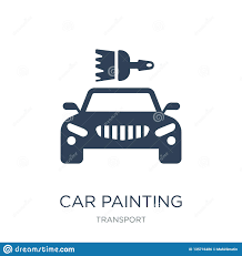 Car Painting Design App Car Painting Icon In Trendy Design Style Car Painting Icon