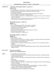 Certified Medical Assistant Resume Sample Registered Medical Assistant Resume Samples Velvet Jobs 6