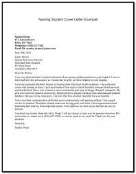 Sample Cover Letter For Resume Nursing Student Cover Letter