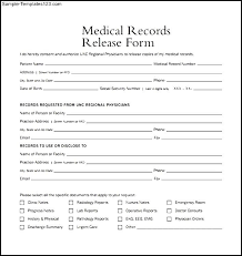 Sample Medical Records Release Form Generic Medical Records Release Form Medical Sample