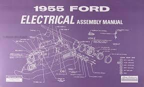 1955 ford car electrical reprint assembly manual 1955 ford thunderbird wiring diagram at 1955 Ford Thunderbird Wiring Diagram
