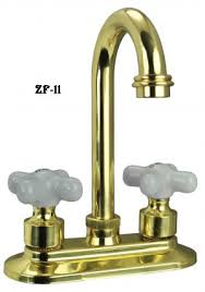 brass wet bar sink faucet with porcelain hot and cold knobs zf 11