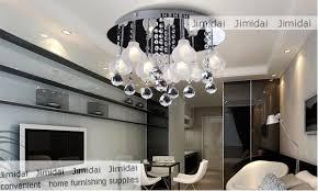 modern bedroom chandeliers. Freeshipping Dining Room Bedroom Ceiling Lamp / Modern Simple Warm Flower Crystal Chandeliers /9 F