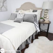 grey ivory velvet ornate apartment bedding collection