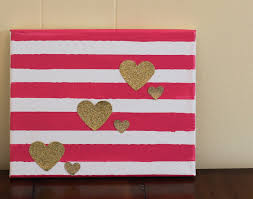 easy diy valentine s day decor 2 ideas for a valentine canvas the chirping moms