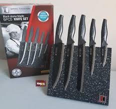 Bloc Couteau De Cuisine Professionnel En Inox Design 6 Pcs Poele
