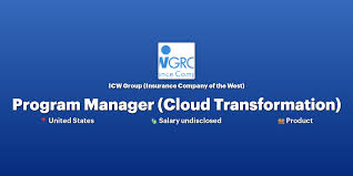 Its insurance company of the west provides. Program Manager Cloud Transformation At Icw Group Insurance Company Of The West