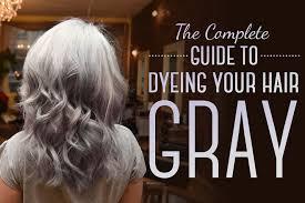 dye your hair gray
