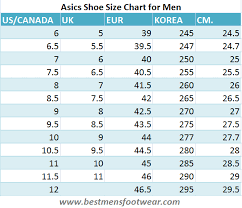Korean Shoe Size Conversion Chart Comprehensive Guide On Asics Shoe Size Chart For Men Best