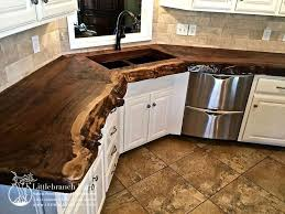 Kitchen Countertop Designs Fascinating Natural Wood Countertops Live Edge Wood Slabs Kitchen Ideas