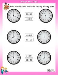 Kids : Free Esl Clock Worksheets Worksheet Clock 841 1 Grade 3 For ...