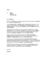 Bank Loan Request Letter