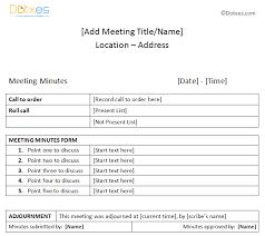 Microsoft Meeting Notes Template Meeting Minutes Sample Plain Table Format Dotxes