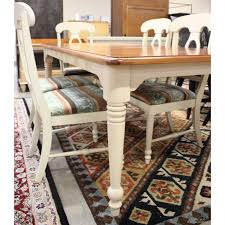 Broyhill Two Tone Dining Table W6 Chairs Upscale Consignment
