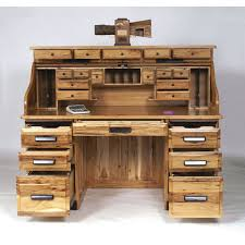 rustic home office desk. stylish office desk usa rustic hickory roll top workstation 47 3062rt dot amish oak home i