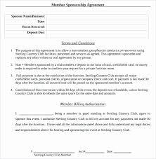 Sponsorship Contract Template Amazing Corporate Sponsorship Agreement Example Inspirational Sponsorship