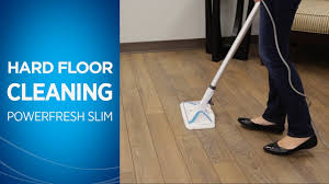 how to clean hard floors with your powerfresh slim steam mop